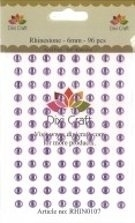Dixi Craft - Rhinestones - 6mm - 96 stuks - Light Purple
