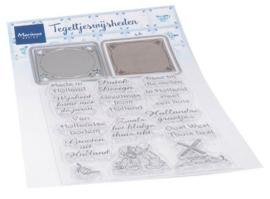 Marianne Design - Clear Stamps & Dies -Tegeltjes met wijsheden (NL)