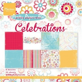 Marianne Design - Pretty Paper Bloc - Celebrations ca. 15,2 x 15,2 cm