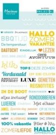 Marianne Design - Project NL - Tekststickers Zon, Zee, Zand