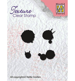 Nellie`s Choice - Clear Stamps - Texture - Ink spatters
