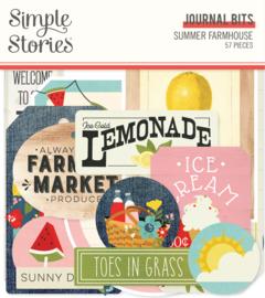 Simples Stories - Summer Farmhouse - Journal Bits & Pieces Die-Cuts 57 stuks
