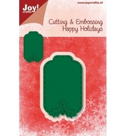 Joy!crafts - Cutting & Embossing stencil Happy Holidays Label