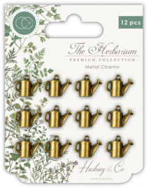 Craft Consortium - The Herbarium - Watering Can - Metal Charms