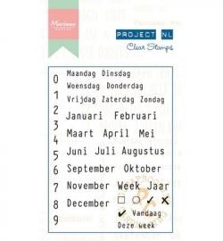 Marianne Design -  Stempel Project NL - Calendarium