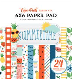 Echo Park - Summertime - 6x6 Inch Paper Pad (15,2 x 15,2 cm)