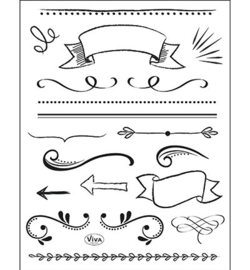 Viva Decor - Clear Stamps - Lettering Elemente