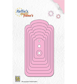 Nellie Snellen - Multi Frame Dies - Tags-4 Curved Corners
