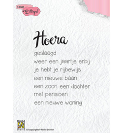 Nellie`s Choice - Clear Stamps - Hoera: diverse gelegenheden