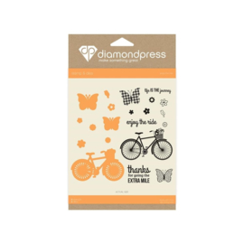 Diamond Press stempel en snijmal Set - Enjoy the ride