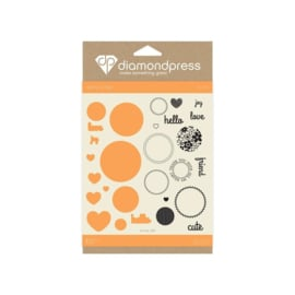 Diamond Press stempel en snijmal Set - Love today