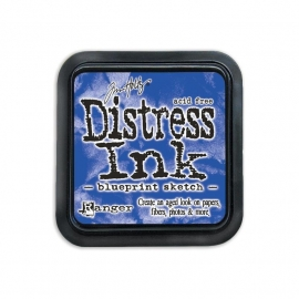 Distress Inkt Blueprint Sketch