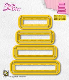 Nellies Choice -  Shape Die - set van 4 tags - 3 SD204 80x15mm