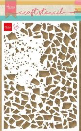 Marianne Design - Mask Stencil - Tiny's Gebroken glas PS8107 21x15cm