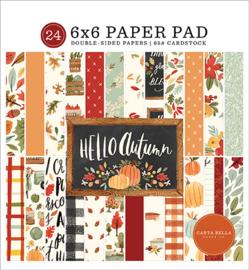 Carta Bella - Hello Autumn - 6x6 Inch Paper Pad  (15,2 x 15,2 cm)