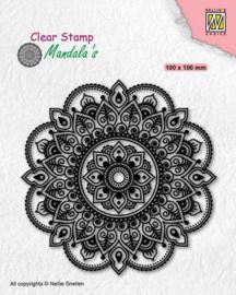 Nellies Choice -  Clearstamp - Mandala - Fantasy Flower - CSMAN005 - 100x100mm