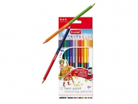 Bruynzeel Twin Point Colouring Pencils 12 pcs