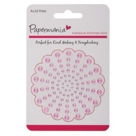 Papermania Shimmer Dots Pale Pink