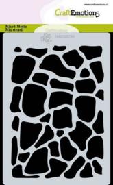 CraftEmotions - Mask stencil - giraf print - A6 - Carla Creaties