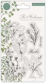 Craft Consortium -  The Herbarium - Clear Stamps - Herbs