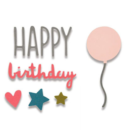Sizzix - ThinLits - Happy Birthday
