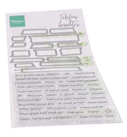 Marianne Design - Mallen en clearstamps - telefoonberichten