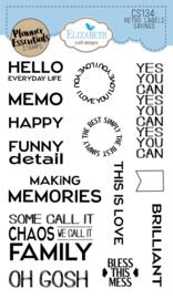 Elizabeth Craft Designs - Retro Labels Sayings