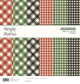 Simple Stories - Jingle All the Way - Basics Kit 30,5 x 30,5 cm