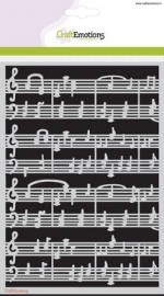 CraftEmotions Mask stencil - muziekbalken A5