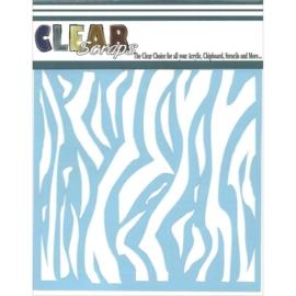 Clear Scraps Stencil Zebra 15 x 15 cm