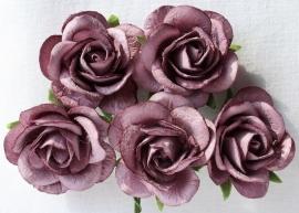 Trellis Roses - Purple