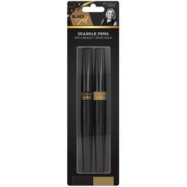 Spectrum Noir Sparkle - Zwart&Goud - Sparkle/glitter pennen (2pk)