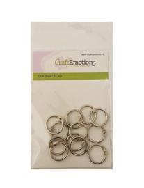 CraftEmotions - Klik ringen / boekbindersringen 19mm 12 st.