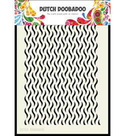Dutch Doobadoo Dutch Mask Art stencil - Mask Art Floral Waves