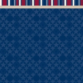Hot Off The Press - Patriotic Blue Border