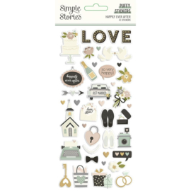 Simple Stories - Happily Ever After Puffy Stickers (15521)