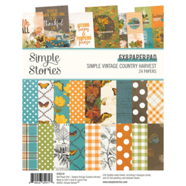 Simple Stories - Simple Vintage Country Harvest - 6x8 Inch Paper Pad