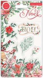 Craft Consortium -  Noel - Clear Stamps - Flora