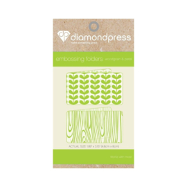 Diamond Press Embossing folder - Houtnerf & bloemblaadjes