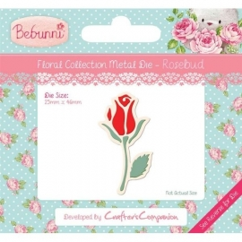 Bebunni Floral Metal Die - Rosebud by Crafter's Companion
