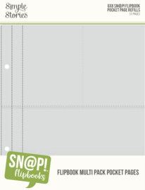 "Simple Stories - Multi Pack Refills 6""X8"" SN@P! Flipbook Pages (10 stuks)"