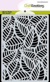 CraftEmotions  - Mask stencil - achtergrond Skelet bladeren - A6