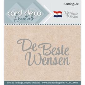 Card Deco Essentials - Cutting Dies - De Beste Wensen