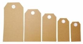 Joy!Crafts Labels karton bruin, 13,2 x 6,6 cm, 25 stuks