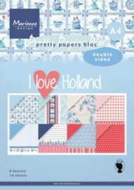 Marianne Design - Paperpad - I love Holland -  A4