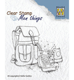 Nellie's Choice - Clear stamps - Men Things - Backpack & shoes