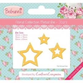 Bebunni Floral Metal Die - Stars by Crafter's Companion