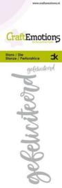 CraftEmotions - Die - Handletter - gefeliciteerd (NL) Card 5x10cm Carla Kamphuis