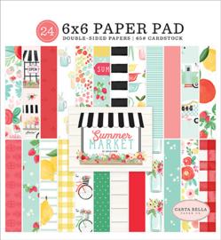 Carta Bella - Summer Market- 6x6 Inch Paper Pad (15,2 x 15,2 cm)