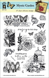 Hot Off The Press - Mystic Garden clearstamps (17)
